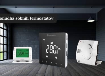 Ponudba sobnih termostatov